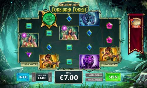 Kingdoms Rise Forbidden Forest videoslot