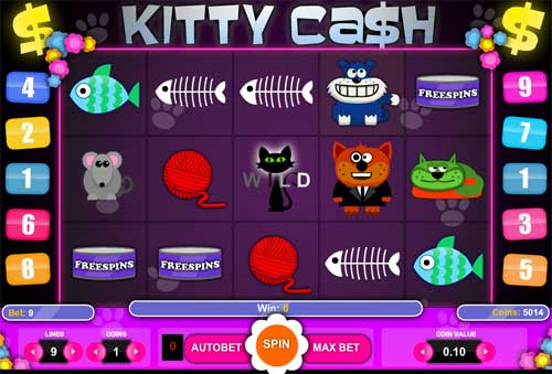 Kitty Cash videoslot