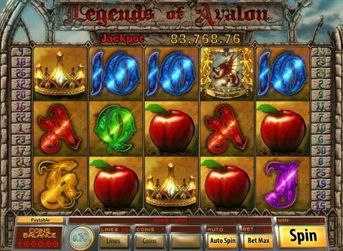 Legends of Avalon videoslot