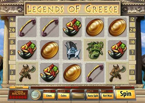 Legends of Greece videoslot