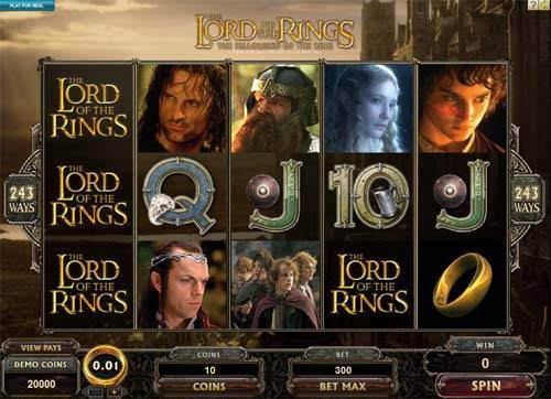 Lord of the Rings Jackpot videoslot