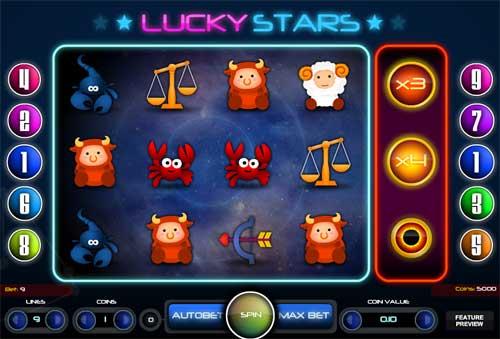 Lucky Stars videoslot