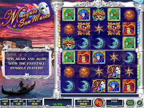 Masques of San Marco free slot