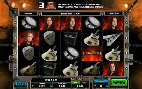 Megadeth videoslot