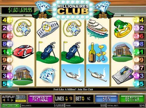 Millionaires Club 2 videoslot
