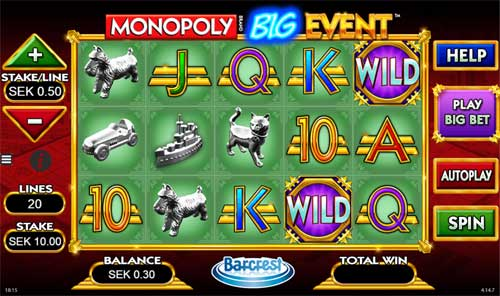 Monopoly Big Event videoslot