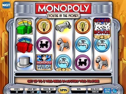 Monopoly In The Money slot