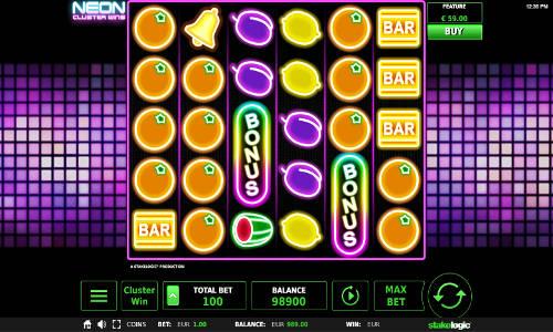 Neon Cluster Wins videoslot