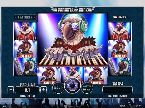 Parrots Rock videoslot