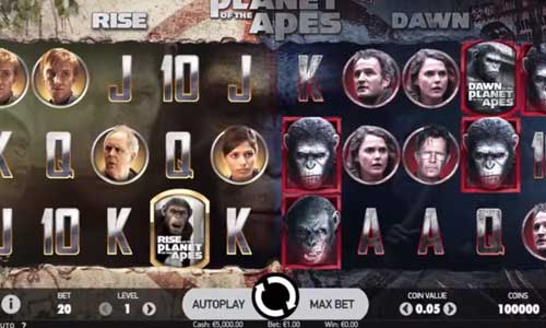 Planet of the Apes videoslot