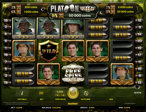 Platoon Wild videoslot