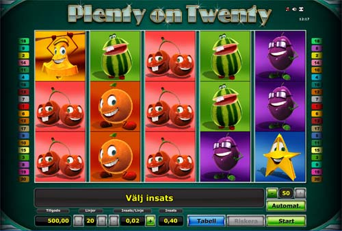 Plenty on Twenty free slot