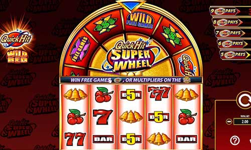 Quick Hit Super Wheel Wild Red slot