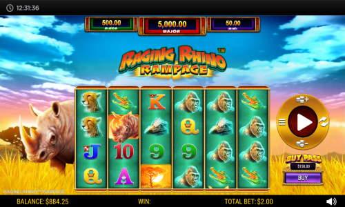 Raging Rhino Rampage slot