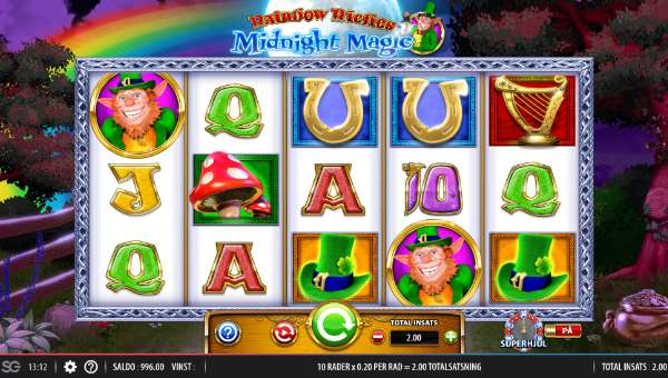 Rainbow Riches Midnight Magic videoslot