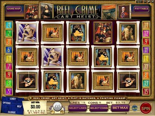 Reel Crime 2 Art Heist videoslot