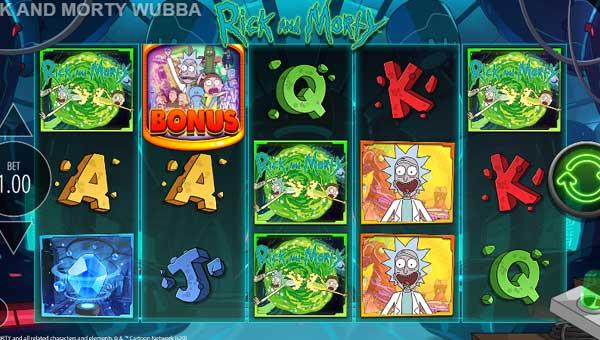 Rick and Morty Wubba Lubba Dub videoslot