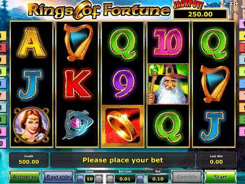 Rings of Fortune videoslot