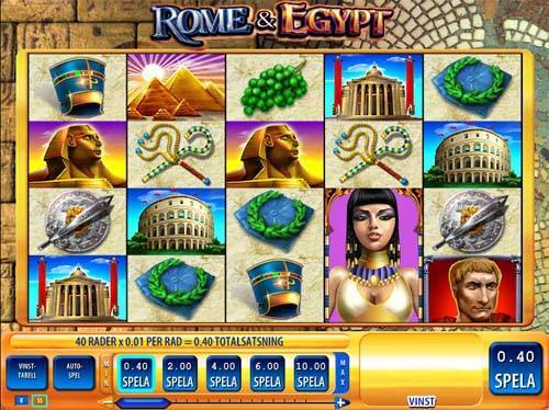 Rome and Egypt videoslot