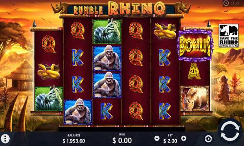 Rumble Rhino videoslot