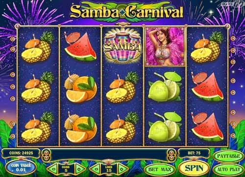 Samba Carnival videoslot