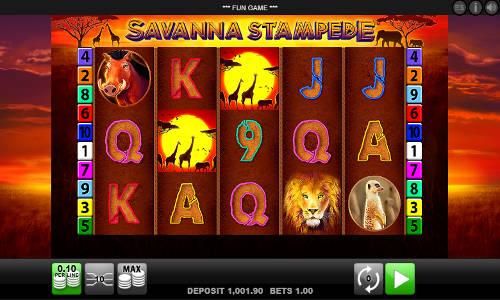 Savanna Stampede videoslot