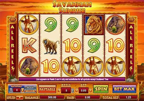 Savannah Sunrise free slot