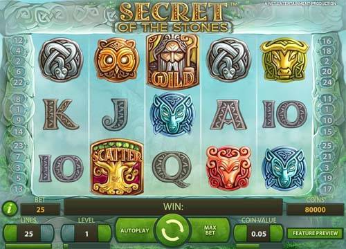Secret of the Stones free slot