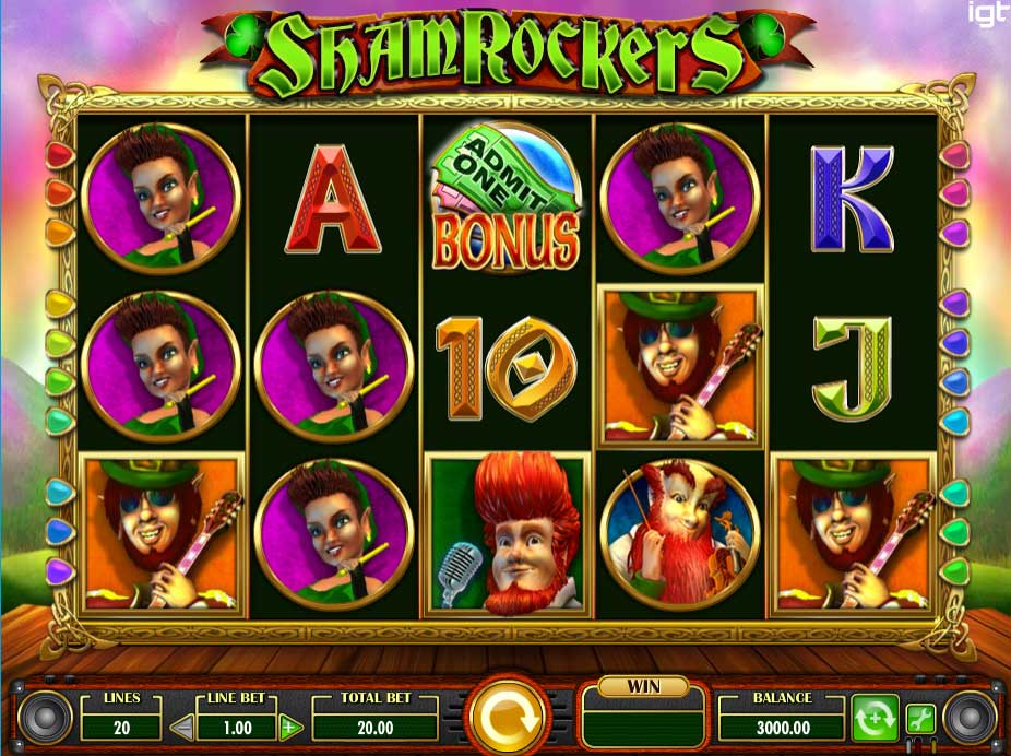 Shamrockers free slot