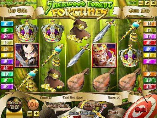 Sherwood Forest Fortunes videoslot