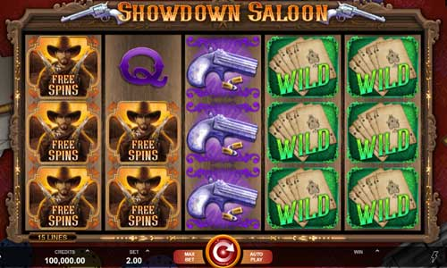 Showdown Saloon videoslot