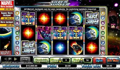 Silver Surfer casino slot