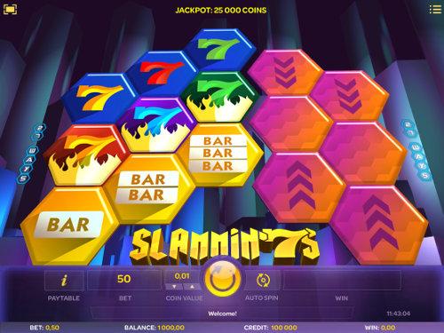 Slammin 7s videoslot