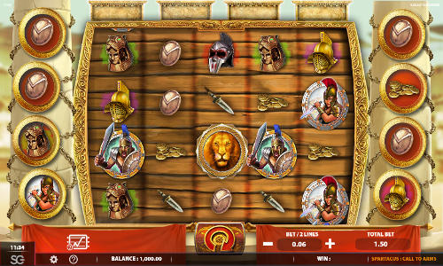 Spartacus Call to Arms free slot