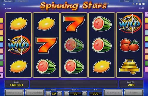 Spinning Stars free slot