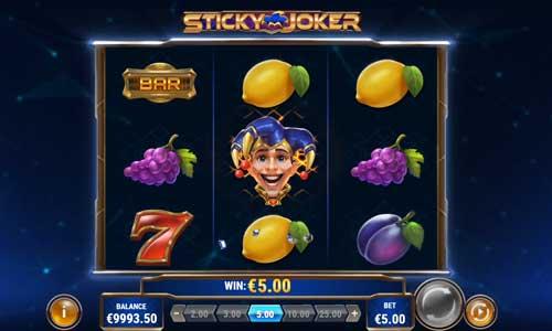 Sticky Joker videoslot
