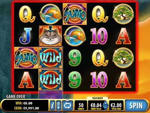Sumo Kitty™ Slot spel spela gratis i Bally Online Casinon