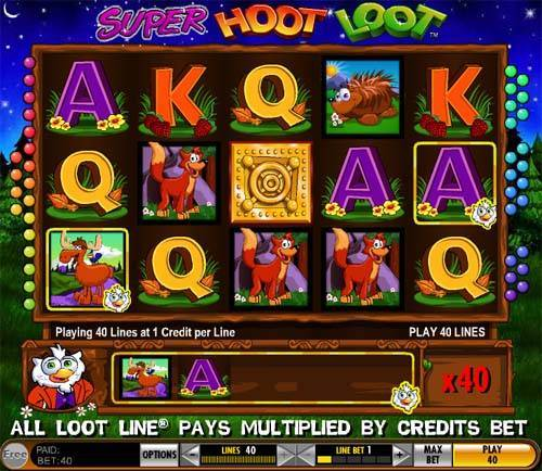Super Hoot Loot free slot