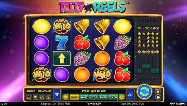 Telly Reels videoslot