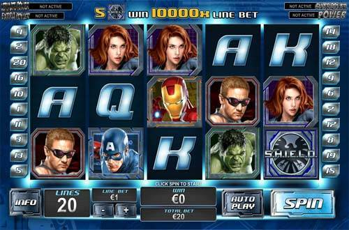 The Avengers casino slot