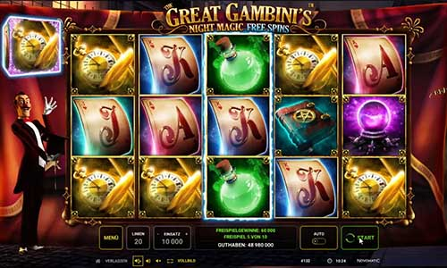 The Great Gambinis Night Magic videoslot