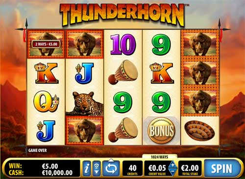 Thunderhorn casino slot