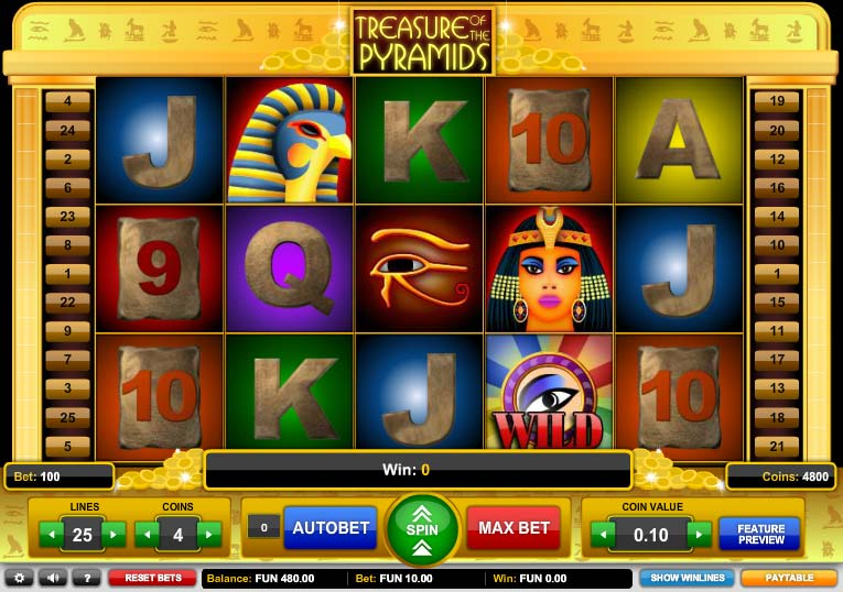 Treasure of the Pyramids free slot