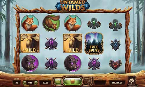Untamed Wilds videoslot