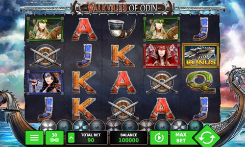 Valkyries of Odin free slot
