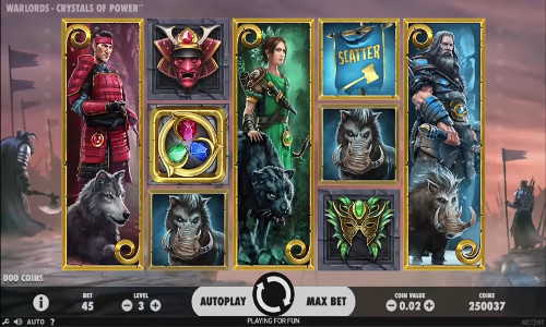 Warlords Crystals of Power free slot