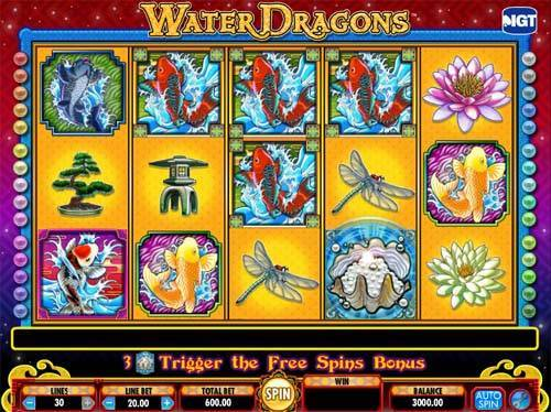 Water Dragons videoslot