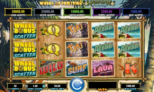 Wheel of Fortune Hawaiian Getaway slot