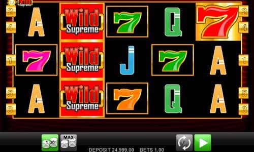 Wild Supreme videoslot