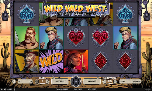 Wild Wild West The Great Train Heist free slot